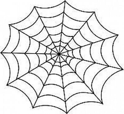 20 water slide nail art transfer Halloween spider web 3/8 inch Trending - Halloween Spider Nails