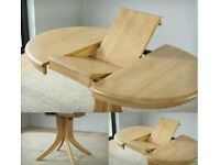 NEW solid oak table top extendable excellent quality NO LEGS