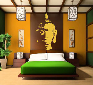 Vinilo decorativo pared sal n coche decoraci n buda head sticker decal a medida ebay - Budas decoracion ...