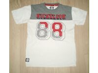 NICKELSON Boy's Logo T-Shirt Age 13-15 Years VGC