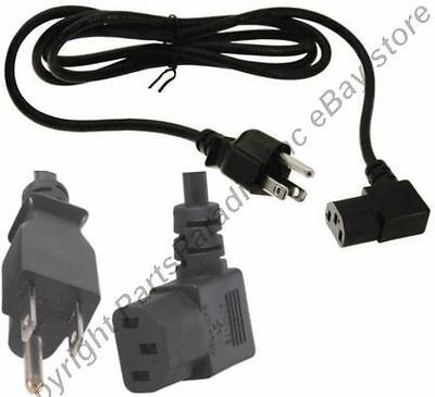 Lot8 6ft Right Angle/ra/elbow Power Cord/cable Pc/ac/prin...