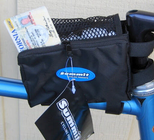Tri Bag Stem & Top Tube Mount Bento Box Bicycle Bike Pack F Gels W Zip Pocket
