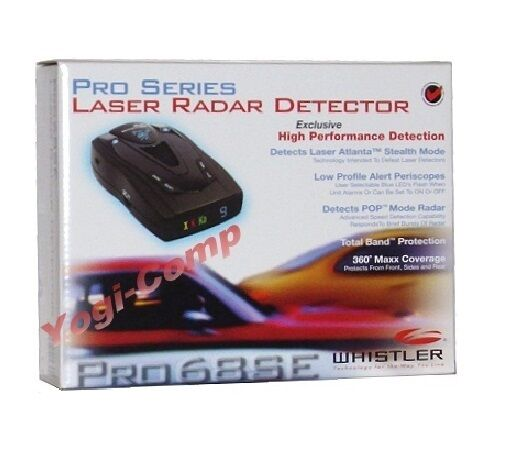 Whistler PRO 68SE High Performance Laser Radar Detector PRO68SE NEW