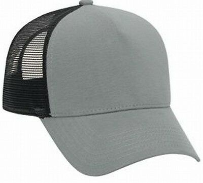 Gray Black flannel front Mesh low profile hat Cap Mesh Trucker Hat Justin - Flannel Cap