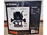 wickes half inch plunge router new and unused.