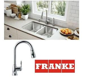 NEW FRANKE PULL-DOWN KITCHEN FAUCET - 115792171 - Single-Handle Spray Kitchen Sink Faucet, Chrome