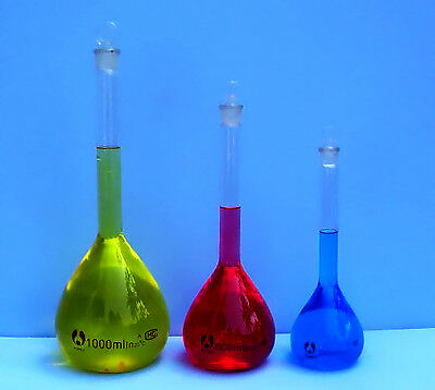 Volumetric Flask Set 250 500 1000 Ml