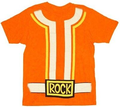 Adult Music TV Show Yo Gabba Gabba! DJ Lance Orange Rock Costume T-Shirt - Adult Yo Gabba Gabba Costumes