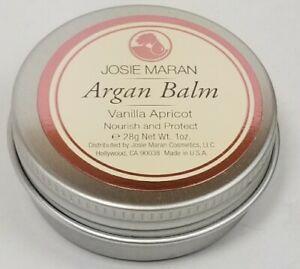 Josie Maran Argan Balm Vanilla Nourish & Protect Solid Argan Oil 1 oz Travel Tin