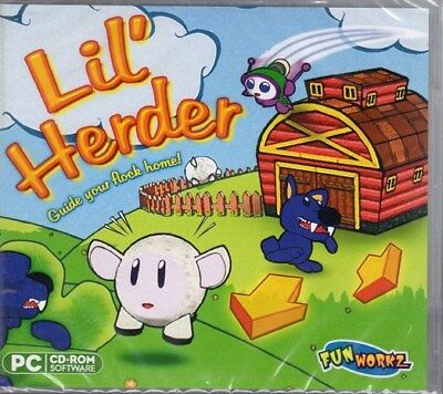 Lil' Herder: Guide Your Flock Home (PC-CD, 2010) XP/Vista/7 - NEW in Jewel (Cd Jewel Case Template)