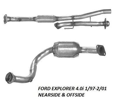 FORD EXPLORER 4.0i 1/97-2/01 (offside + Nearside) Exhaust catalytic Converters