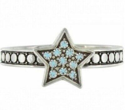 NWT Brighton STAR STRUCK Blue Crystal Star Stack Ring Size 9