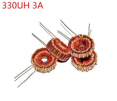 10pcs 330uh 330uh 3a Coil Wire Wrap Toroid Inductor Choke