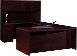 New-Amber-Bowfront-U-Shape-Executive-Office-Desk-with-Hutch