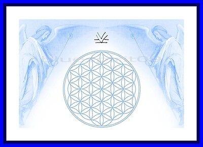 Energie Bild - Schwingungsbild - Die Blume des Lebens mit Erzengel Michael
