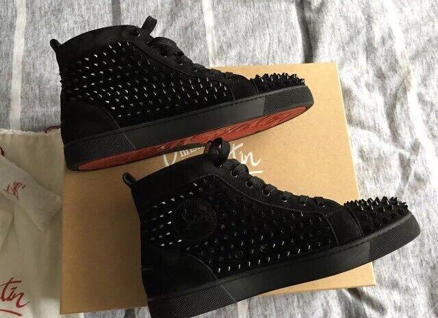 sports shoes ba0c1 b5b2b Christian Louboutin Men's Spike Trainers Black   in Bethnal Green, London    Gumtree