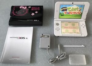 Pink 3DS.XL_With Lots of Games_Pokemon SUN & MOON