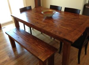 Knotty pine family tables