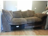 3 Seater Sofa with Cushions (was part of a Corner sofa) Good Condition Can Deliver