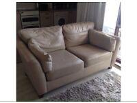 British made leather sofa