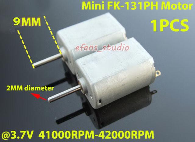 FK-131PH DC 3V 3.7V 42000RPM High Speed Mini HM Motor DIY RC Slot Car Boat Model