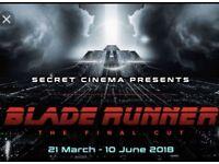 Wednesday 20th June 2 x half price Phoenix tickets Secret Cinema presents Blade Runner The Final Cut