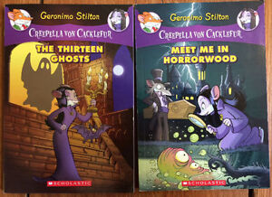 Geronimo Stilton CREEPELLA VON CACKLEFUR Books 1&2 $10