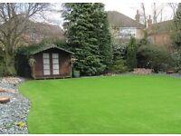 2 & 4m PREMIUM Artificial grass Astro turf fake lawn gym floor flooring (Glasgow Edinburgh Scotland