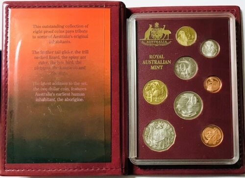 AUSTRALIA - Queen Elizabeth II - (8) Coin Proof Set - 1989 - OGP & COA