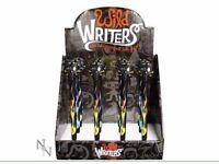 Brand New Hand Painted Hot Rod Skull Pens - Nemesis Now
