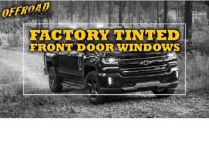 Factory Smoked/Tinted Front Windows for OFFRoad Vehicles!