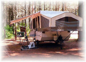 Don't like sleeping in a tent? Why not RENT our camper!