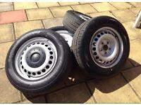 "Vw T5 Transporter 16"" Steel Wheels & Hankook Tyres 215/65/r16c (NEW)"
