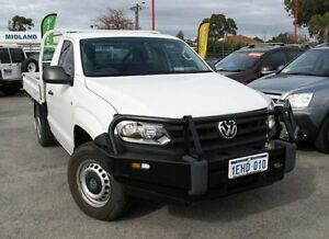 2013 Volkswagen Amarok 2H MY13 TDI400 4Mot White 6 Speed Manual Cab Chassis Bellevue Swan Area Preview
