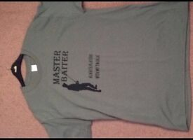 Master baiter fishing Tshirt large
