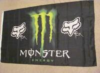 Monster Energy Drink Fox Racing Flag NEW 3X5 Feet