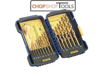 Irwin HSS Titanium Drill Bit Set 15 Piece 1.5mm - 10mm  IRW10503991