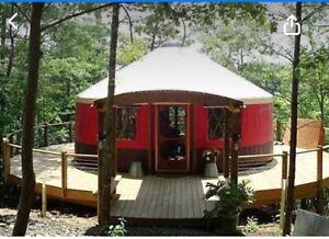 THE TREEFERN- 5metre handmade wooden artisan yurt, eco friendly