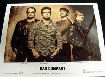 BAD COMPANY 2002 promotional B&W press photo Mint Condition New Old Stock