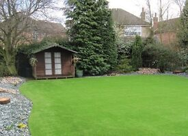 2m & 4m PREMIUM quality Artificial grass Astro turf fake grass lawn garden slabs chips weed killer