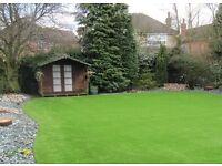 2m & 4m PREMIUM quality Artificial grass Astro turf fake grass lawn garden decking wood weed killer