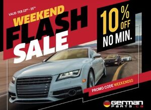 GermanParts.ca Weekend Sale! 10% OFF NO MIN Order!