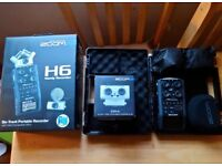 Zoom H6 Portable 6-Track Audio Recorder + Zoom EXH-6 Combo Capsule 60