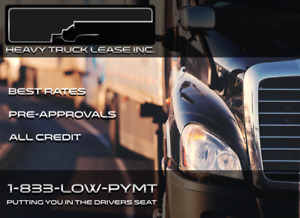 HEAVY TRUCK FINANCING & LEASING - PRE APPROVALS - ALL CREDIT