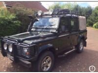 Wanted Land Rover defender 90 or 110 tdi td5 puma pick up station wagon utility top prices paid