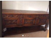 7ft oak sideboard