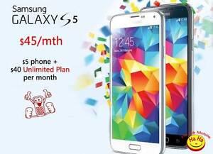 New Unlocked Samsung Galaxy S5 $45 per month Ha Ha Mobile Auburn Auburn Area Preview