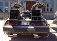 Delorean time machine for special event rental
