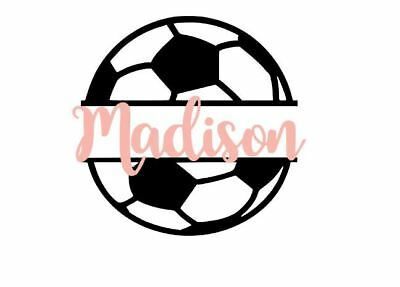 Custom Personalized Soccer Vinyl Decal Sticker 4 Yeti Car Phone Window  - Soccer Stickers