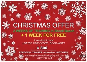 CHRISTMAS OFFER PERSONAL TRAINING Bondi Beach Eastern Suburbs Preview